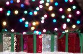 Weihnachten geschenke hintergrund — Stockfoto