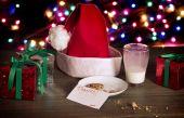 Christmas Cookies for Santa — Stock Photo