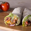 Wrapped tortilla sandwich rolls — Stock Photo #61242253