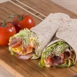 Wrapped tortilla sandwich rolls — Stock Photo #61301335