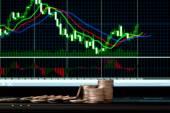 Forex chart — Stock Photo