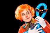 Clown and balloon-man — Stock Photo
