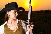 Cowboy woman. — Stock Photo