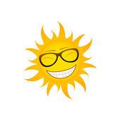 Funky sun — Stock Vector