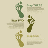 Footstep infographic — Stock Vector