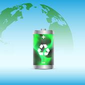 Eco battery — Stock Vector
