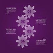 Glass gears infographic — Vector de stock