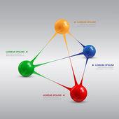 Ballen piramide — Stockvector