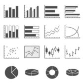 Chart icons — Stock Vector
