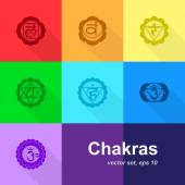 Chakras — Stock Vector
