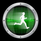 Running man — Stock Vector