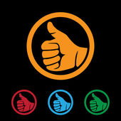 Thumbs up — Stock Vector