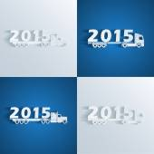 New year truckd — Stock Vector