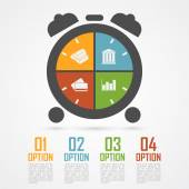 Alarm clock infographic — Stock Vector