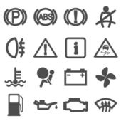 Car driving icons — Stock Vector