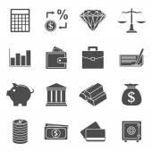 ícones de dinheiro — Vetor de Stock