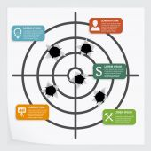 Target infographic — Stock Vector