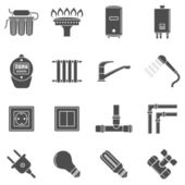 Home supply icons — Stock Vector