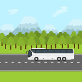 Bus trip — Stock Vector