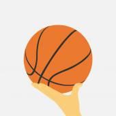 ボールを手します。 — ストックベクタ