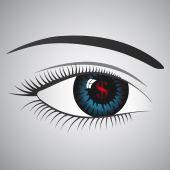Doollar's eye — Stock Vector