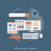 Information search — Stock Vector