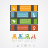 Book stack infographic — Stock Vector