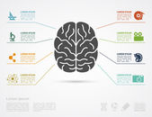 Brain concept — Stock Vector