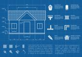 House infographic — Vector de stock