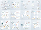 Set of infographit templates — Stock Vector