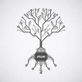 Printed circuit board tree — Stock Vector
