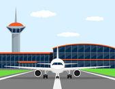 Vliegtuig — Stockvector