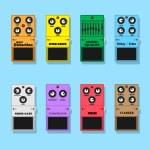 Guitar pedals — Stock Vector #77383690