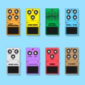 Guitar pedals — Stock Vector