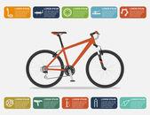 Bike infographic — Stock Vector