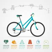 Bike riding infographic — Stock Vector