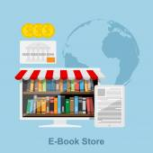 E-book store — Stock Vector