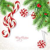 Christmas background music — Stock Vector