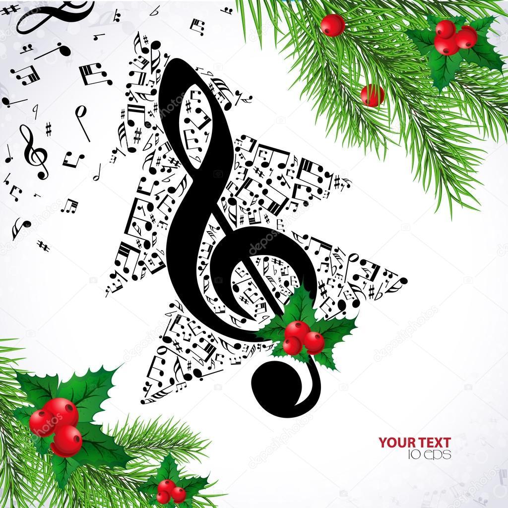 Christmas background music — Stock Vector © 1nana1 #58886293