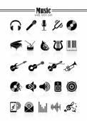 Müzik icon set — Stok Vektör