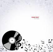 Resumen antecedentes musicales — Vector de stock