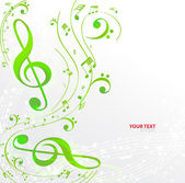 Musical notes staff background — Stock Vector