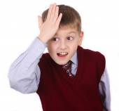 Portrait of little boy in trouble — Stock Photo