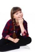 Teenage Girl sitting — Stock Photo