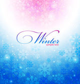 Abstract winter background with snowflakes — Stock Vector