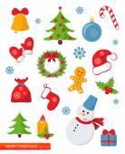 圣诞节的一套 — 图库矢量图片