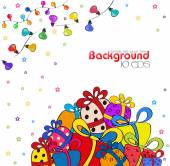 Background with garland and gifts — Stock Vector