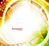 Colorful Movie Background — Stock Vector
