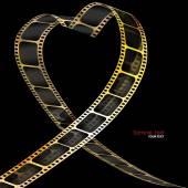 Camera film roll gold color — Stock Vector