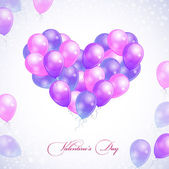 Balloons in form of heart — Stock Vector